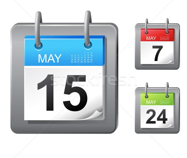 Calendario icone vettore business segno blu Foto d'archivio © kraska