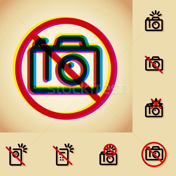 Não foto câmera permitido assinar vintage Foto stock © kraska
