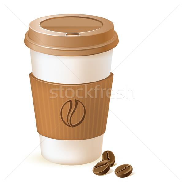 Caffè carta Cup cartone fagioli Foto d'archivio © kraska