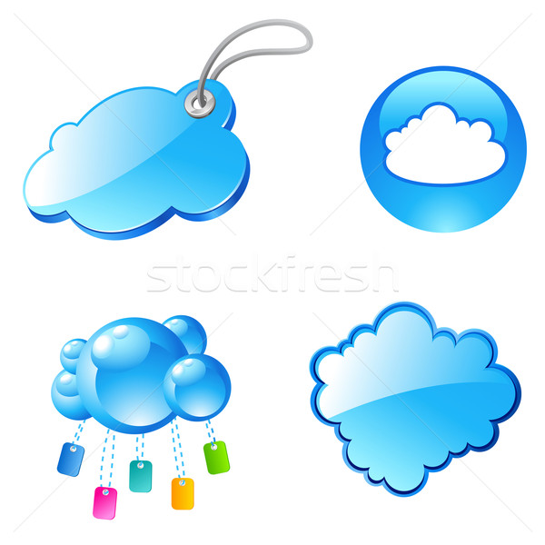 tag cloud icons Stock photo © kraska