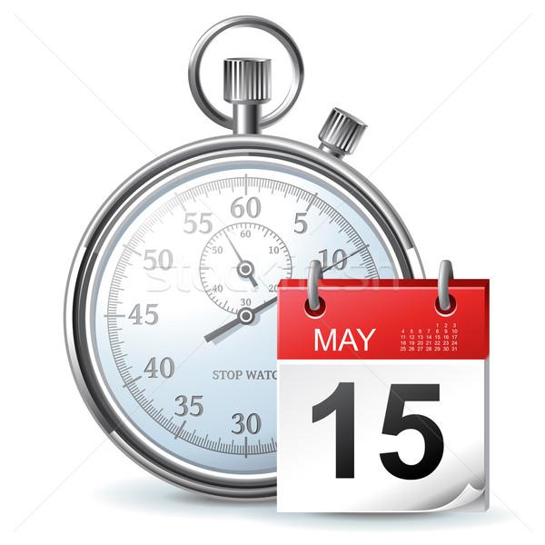 Compito manager icona cronometro calendario ufficio Foto d'archivio © kraska