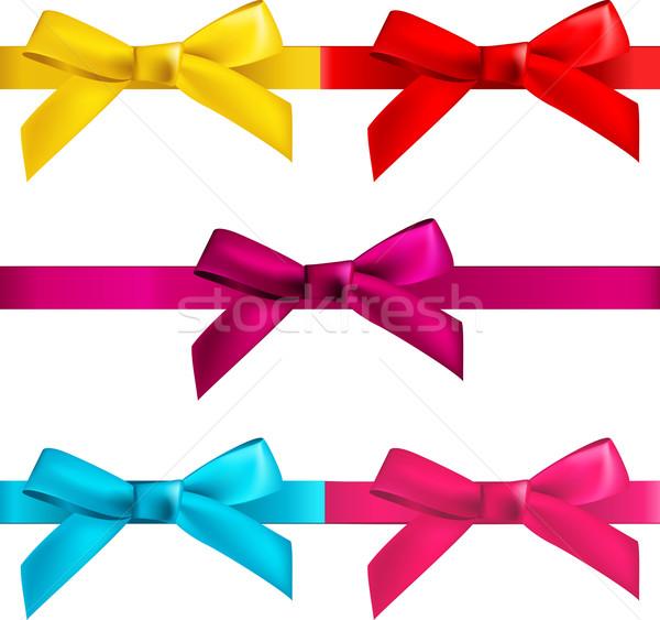 gift  bows with ribbons Stock photo © kraska