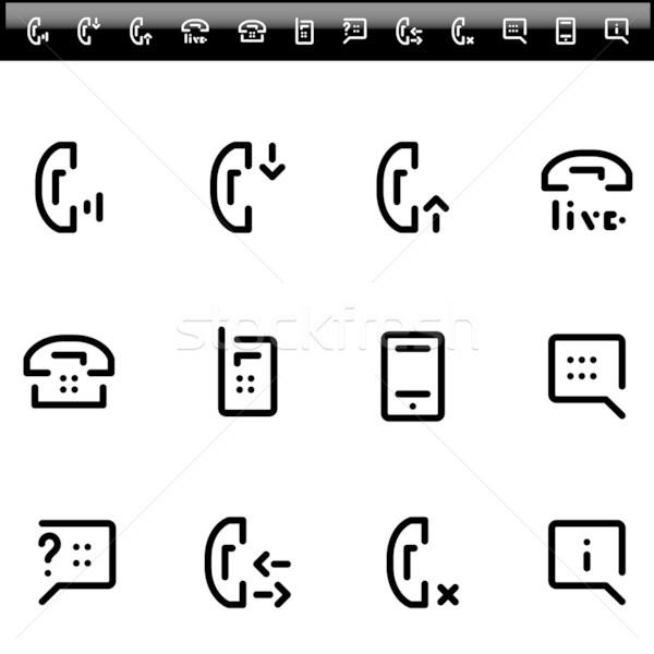 Telefono vivere chat servizio semplice line Foto d'archivio © kraska