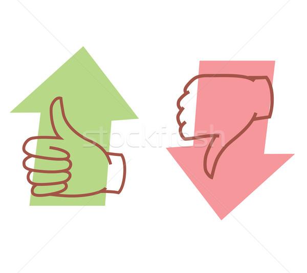 thumbs up or thumbs down Stock photo © kraska