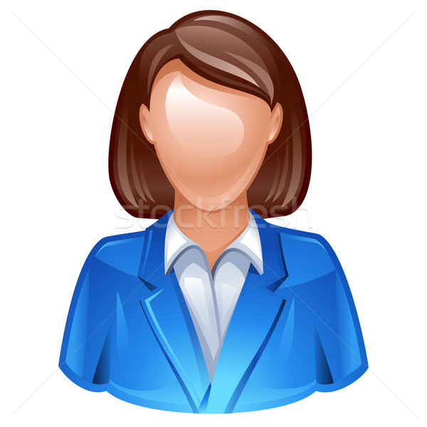 Felhasználó ikon nő üzlet öltöny lány Stock fotó © kraska