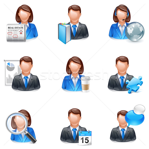 user, friend or member icon Stock photo © kraska