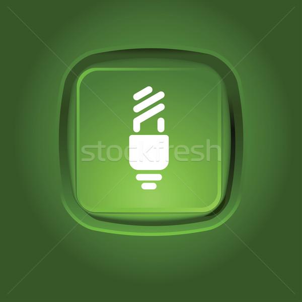 Eco icona verde pulsante luce Foto d'archivio © kraska