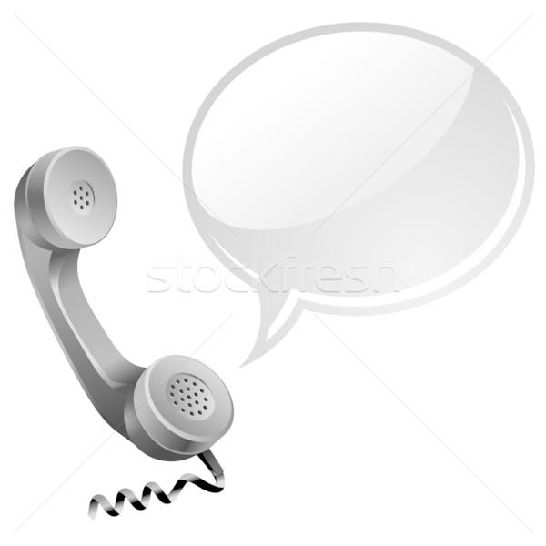 Telefono icona chattare bolla business ufficio tecnologia Foto d'archivio © kraska