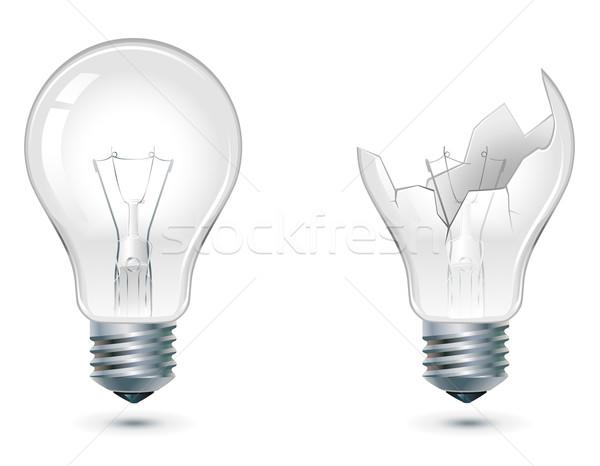 Roto abajo bombilla no bombillas Foto stock © kraska