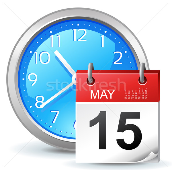 Appuntamento icona ufficio clock calendario business Foto d'archivio © kraska