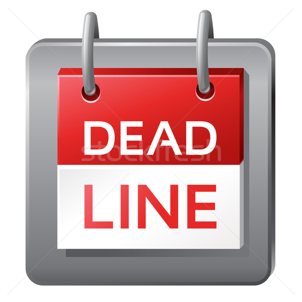 deadline icon Stock photo © kraska