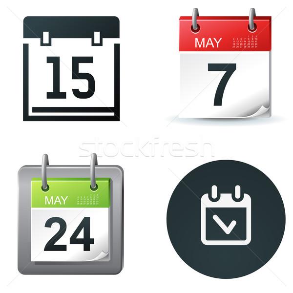 Calendar icoane data simplu simboluri afaceri Imagine de stoc © kraska