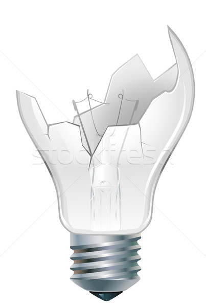 Stock photo: broken-down  light bulb