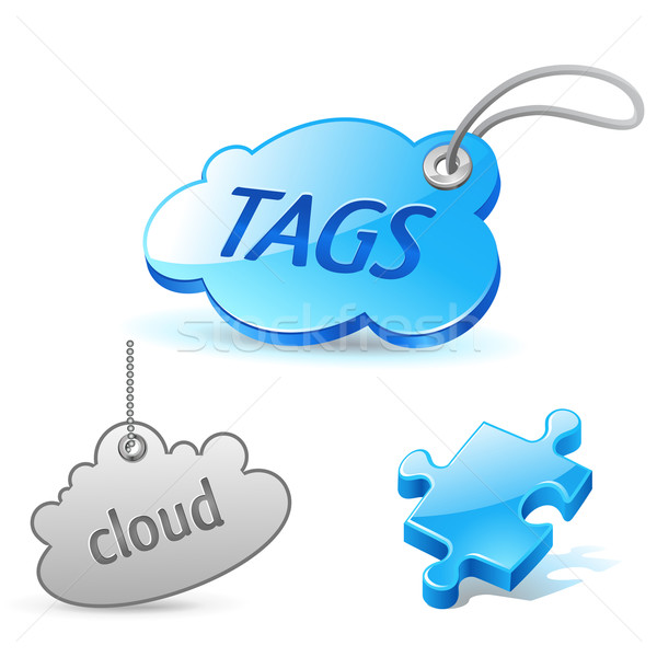 internet cloud tag icon Stock photo © kraska
