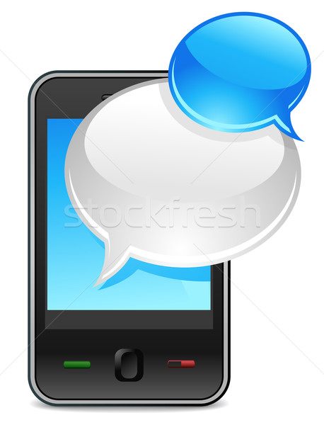 mobile text message Stock photo © kraska