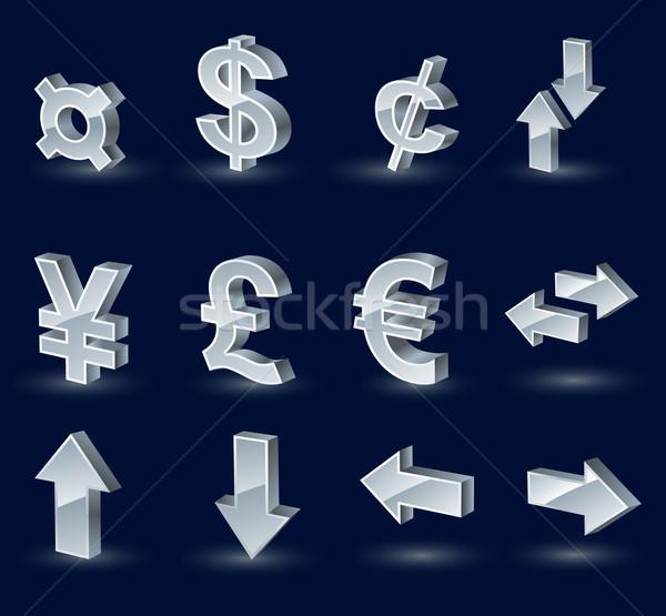 Valuta simboli forex up giù frecce Foto d'archivio © kraska