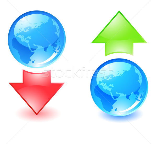 download and upload icons Stock photo © kraska