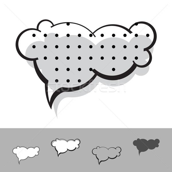 Sprechblase Vektor Tinte Set Papier abstrakten Stock foto © kraska