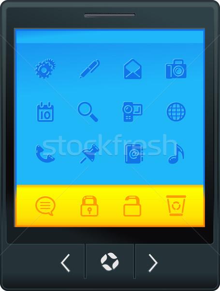 Interfaccia icone musica telefono internet Foto d'archivio © kraska