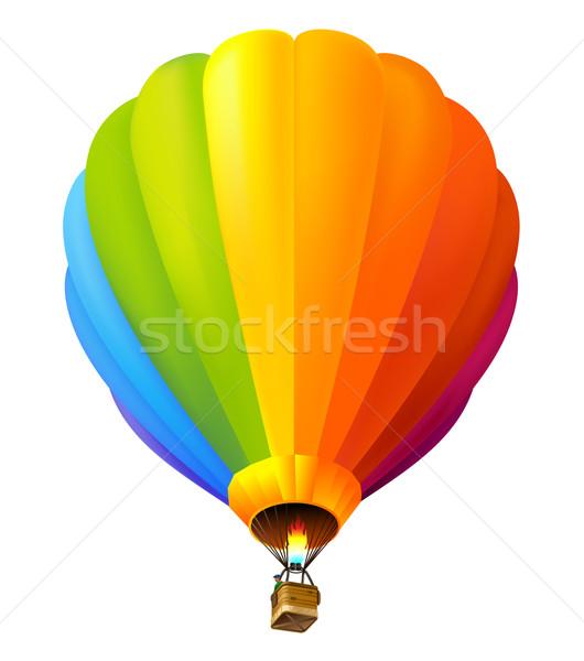 Balonem wektora kolorowy kolor biały hot Zdjęcia stock © kraska