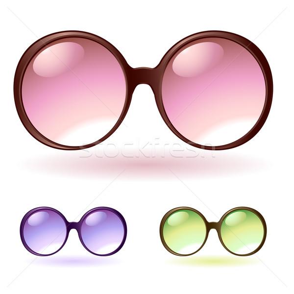 Occhiali da sole sole design nero buio femminile Foto d'archivio © kraska