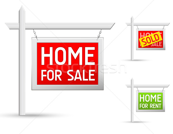 real estate icons set Stock photo © kraska