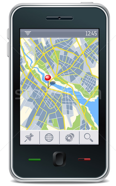 Gps interface cidade mapa lugar pin Foto stock © kraska
