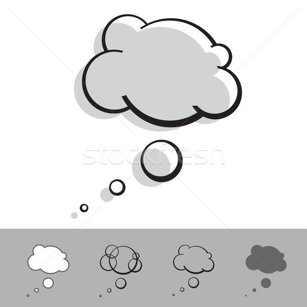 Szöveglufi tinta vektor szett papír absztrakt Stock fotó © kraska