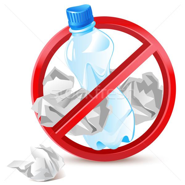 No rifiuti plastica bottiglia carta Foto d'archivio © kraska
