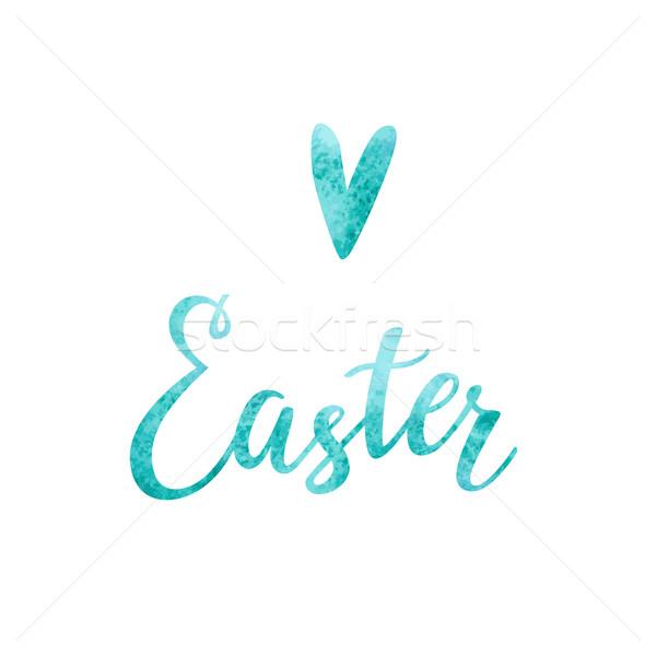 Liefde Pasen typografie witte textuur voorjaar Stockfoto © kraska