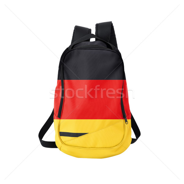 German flag backpack isolated on white Stock photo © kravcs