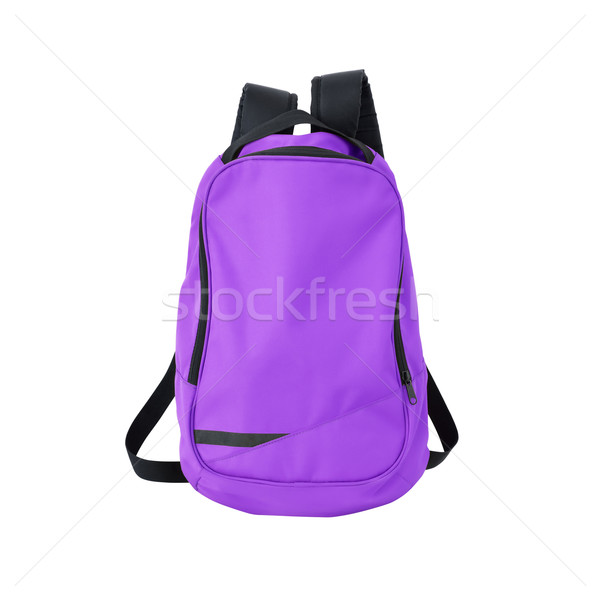 Purple рюкзак изолированный пути изображение рюкзак Сток-фото © kravcs