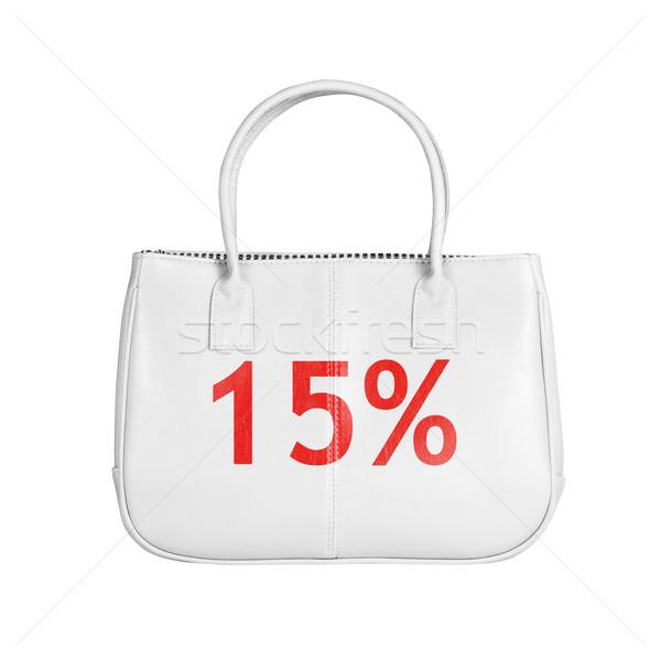 продажи сумку изолированный белый пятнадцать Сток-фото © kravcs