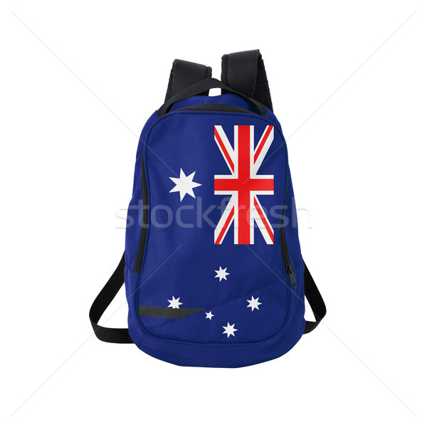 Australian flag backpack isolated on white Stock photo © kravcs