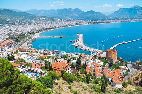 турецкий город Средиземное море морем воды здании Сток-фото © kravcs