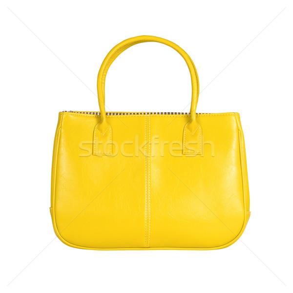 Stock photo: Yellow female bag