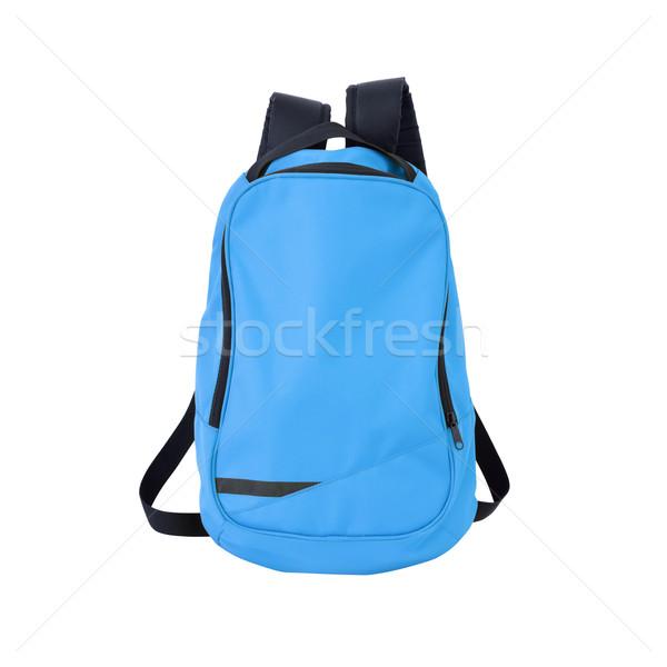 Blauw rugzak geïsoleerd pad afbeelding rugzak Stockfoto © kravcs