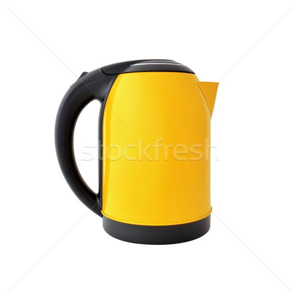 желтый чайник изолированный белый фон Сток-фото © kravcs
