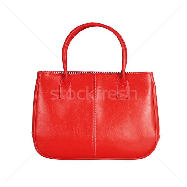 Rood vrouwelijke zak afbeelding geïsoleerd leder Stockfoto © kravcs