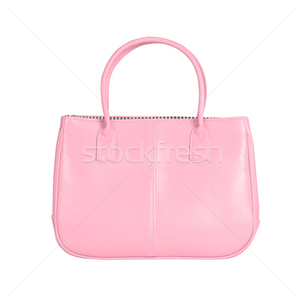 Roze vrouwelijke zak afbeelding geïsoleerd leder Stockfoto © kravcs