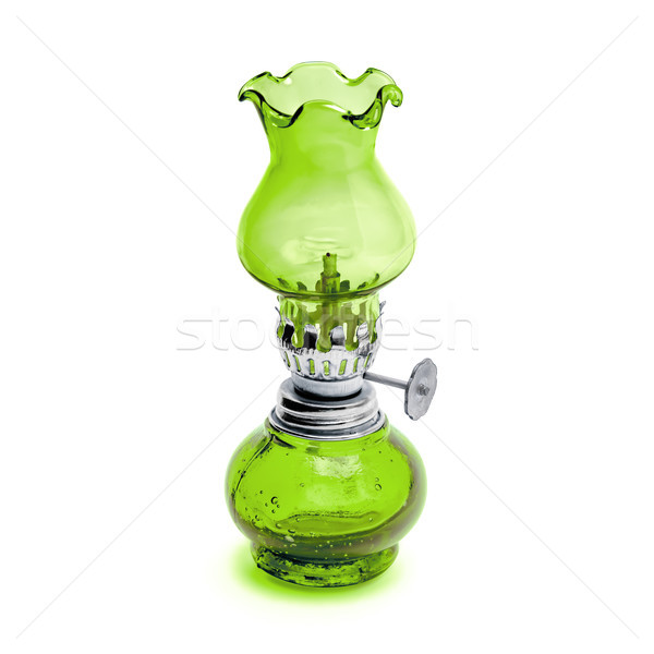 Retro oil lamp isolated on white background Stock photo © kravcs