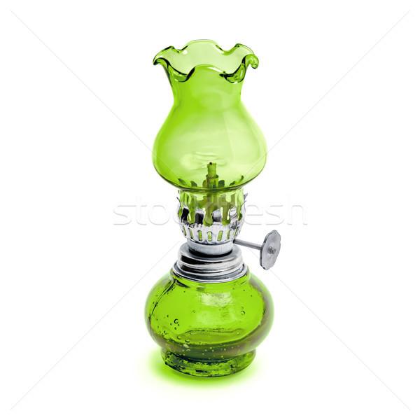 Retro geïsoleerd witte lantaarn groene Stockfoto © kravcs