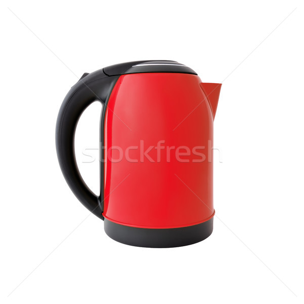 Stock photo: Red kettle isolated on white