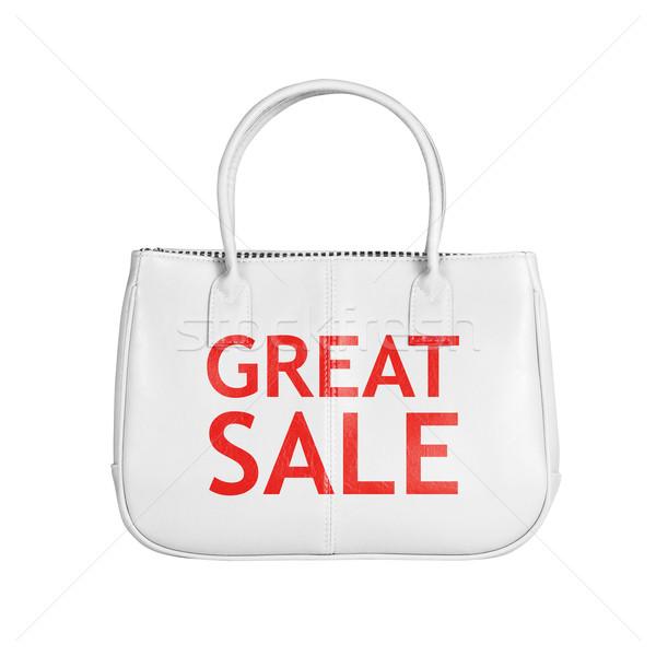 Сток-фото: продажи · сумку · изолированный · белый