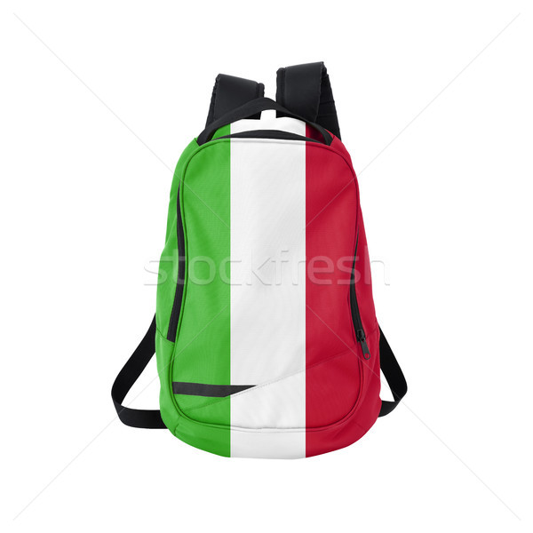 Сток-фото: флаг · рюкзак · изолированный · белый · Снова · в · школу · образование