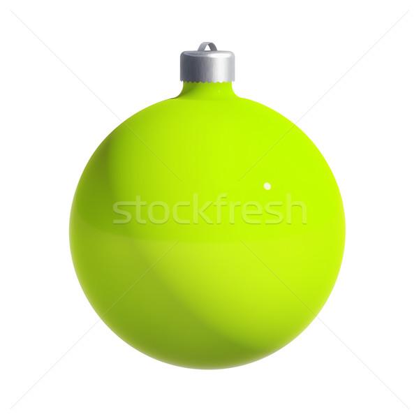 Рождества мяча пути украшение изолированный белый Сток-фото © kravcs