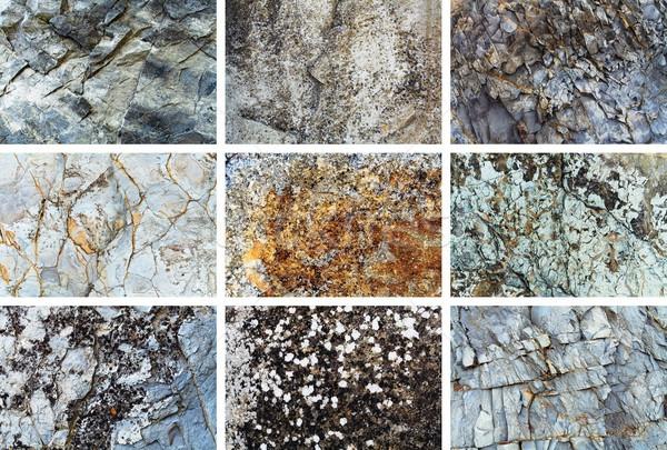 рок текстуры набор природного структур аннотация Сток-фото © kravcs
