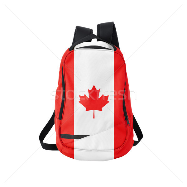 Canada flag backpack isolated on white Stock photo © kravcs
