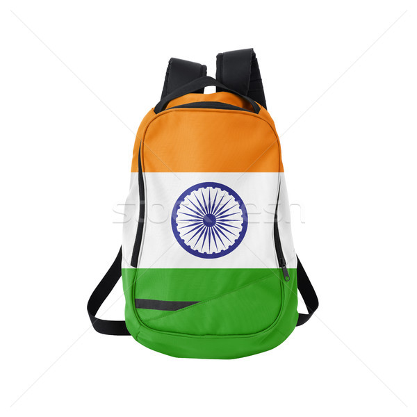 India flag backpack isolated on white Stock photo © kravcs