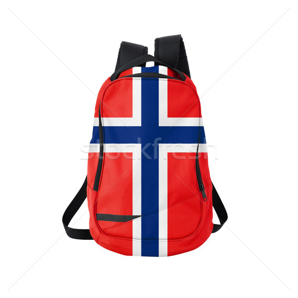 Norway flag backpack isolated on white Stock photo © kravcs